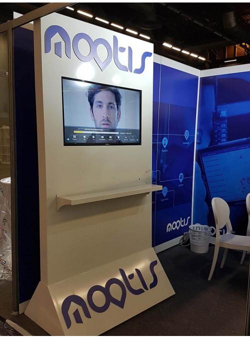 NOOTIS - totem auto-stable avec écran intégré