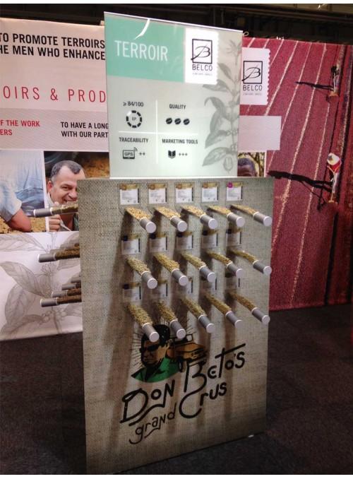 BELCO - testeur/totem de présentation de café avec échantillons