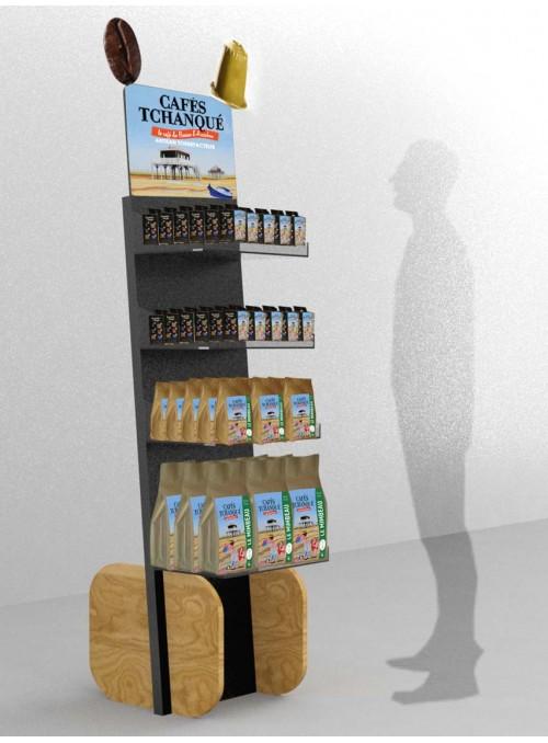 CAFÉ TCHANQUÉ - totem design sur-mesure de présentation de café