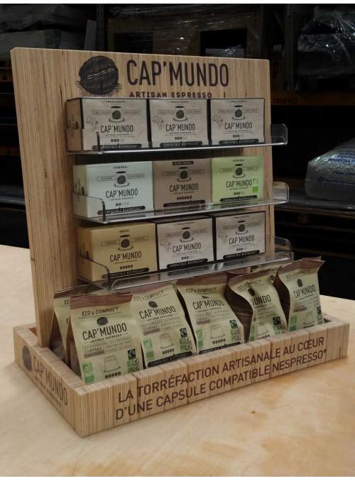 CAP'MUNDO - présentoir de café pour comptoir
