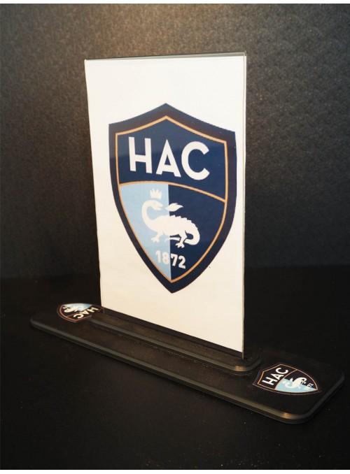 LE HAC - présentoir de table / plv de comptoir sur-mesure et recto/verso pour informer la clientèle