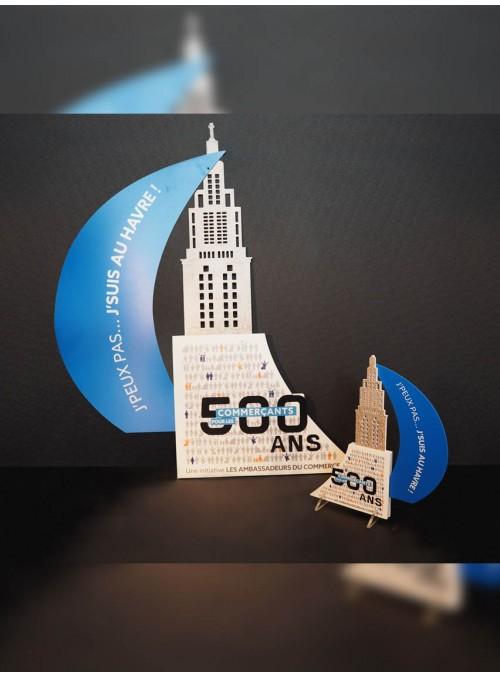 500 ANS POUR LES COMMERCANTS - trophées à l'occasion des 500 ans du Havre