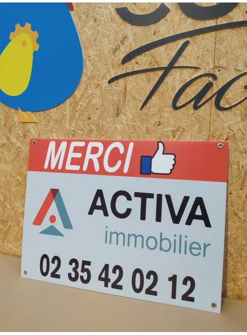 ACTIVA - panneau immobilier standard en akilux