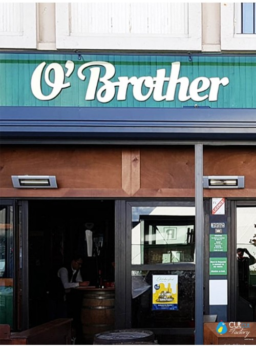 O'BROTHER - enseigne de bar en centre ville et logos