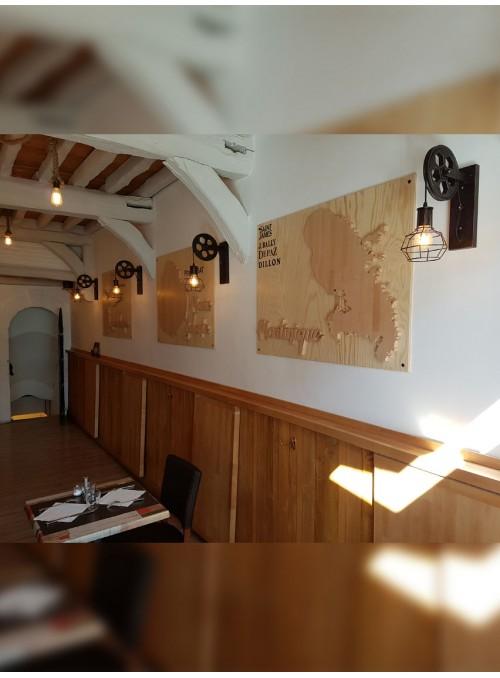 O'TI BRO - panneaux de bois décoratifs avec îles en sur-épaisseur